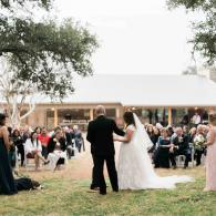 These newlyweds shared a beautiful outdoor wedding ceremony at The Moss Ranch at Enchanted Rock!