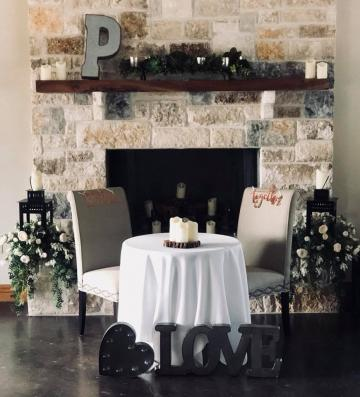 Our natural brick stone fireplace is simply gorgeous!